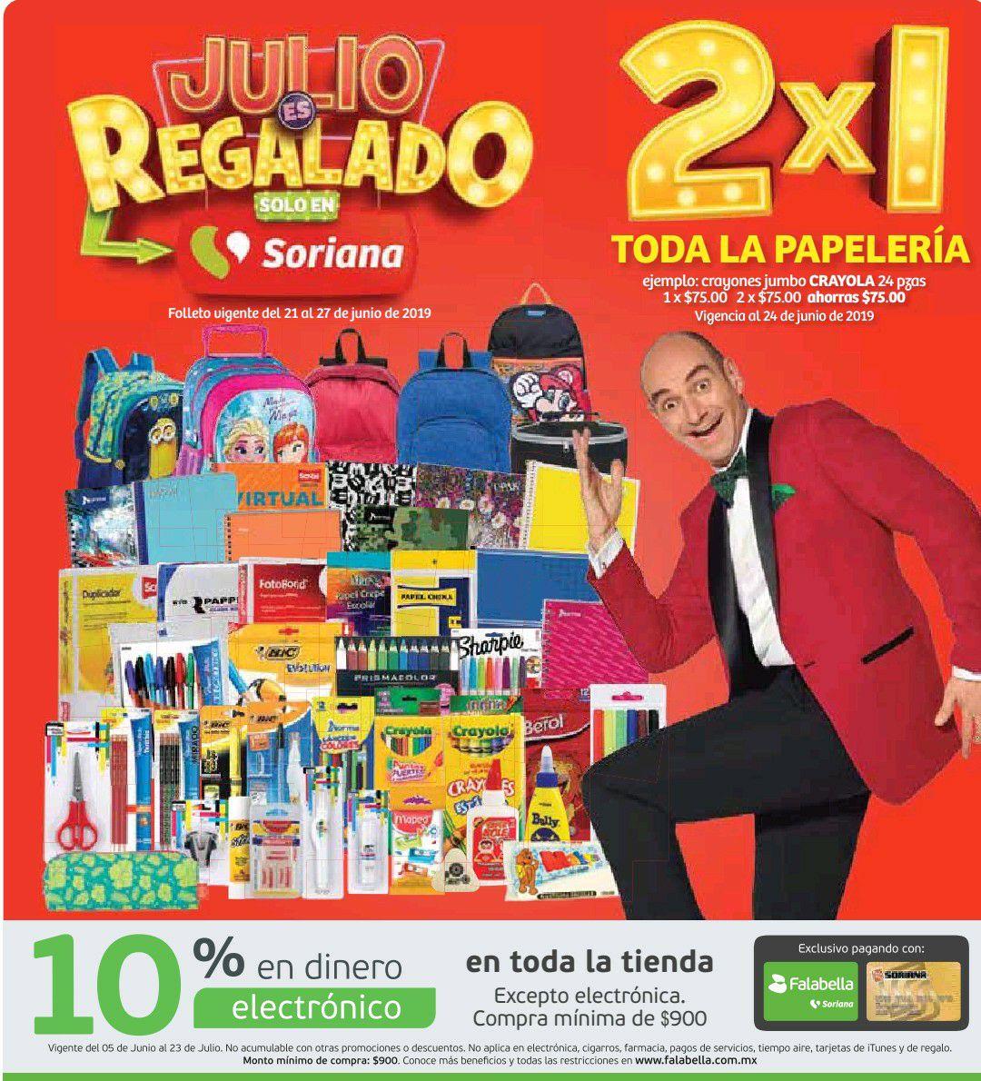 Julio Regalado 2019: Tercer Folleto de Julio Regalado en Soriana Hiper y Mega del 21 al 27 de Junio