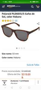 Amazon: Lentes polaroid color Habana (polarizados)