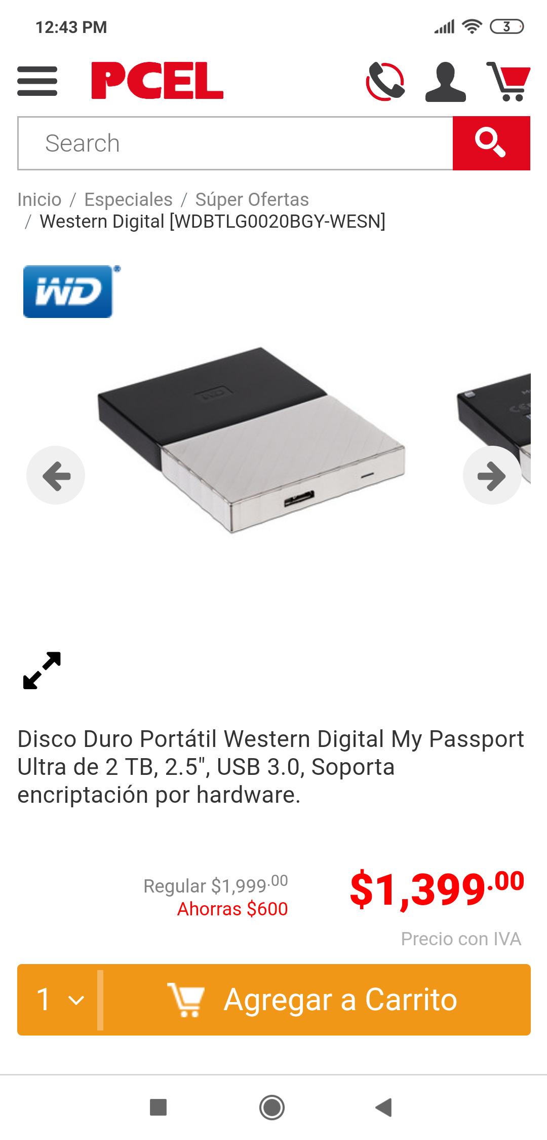 PCEL: Disco duro WD 2TB