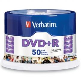 Cyberpuerta: Verbatim Torre de Discos Virgenes, DVD+R, 16x, 50 Piezas