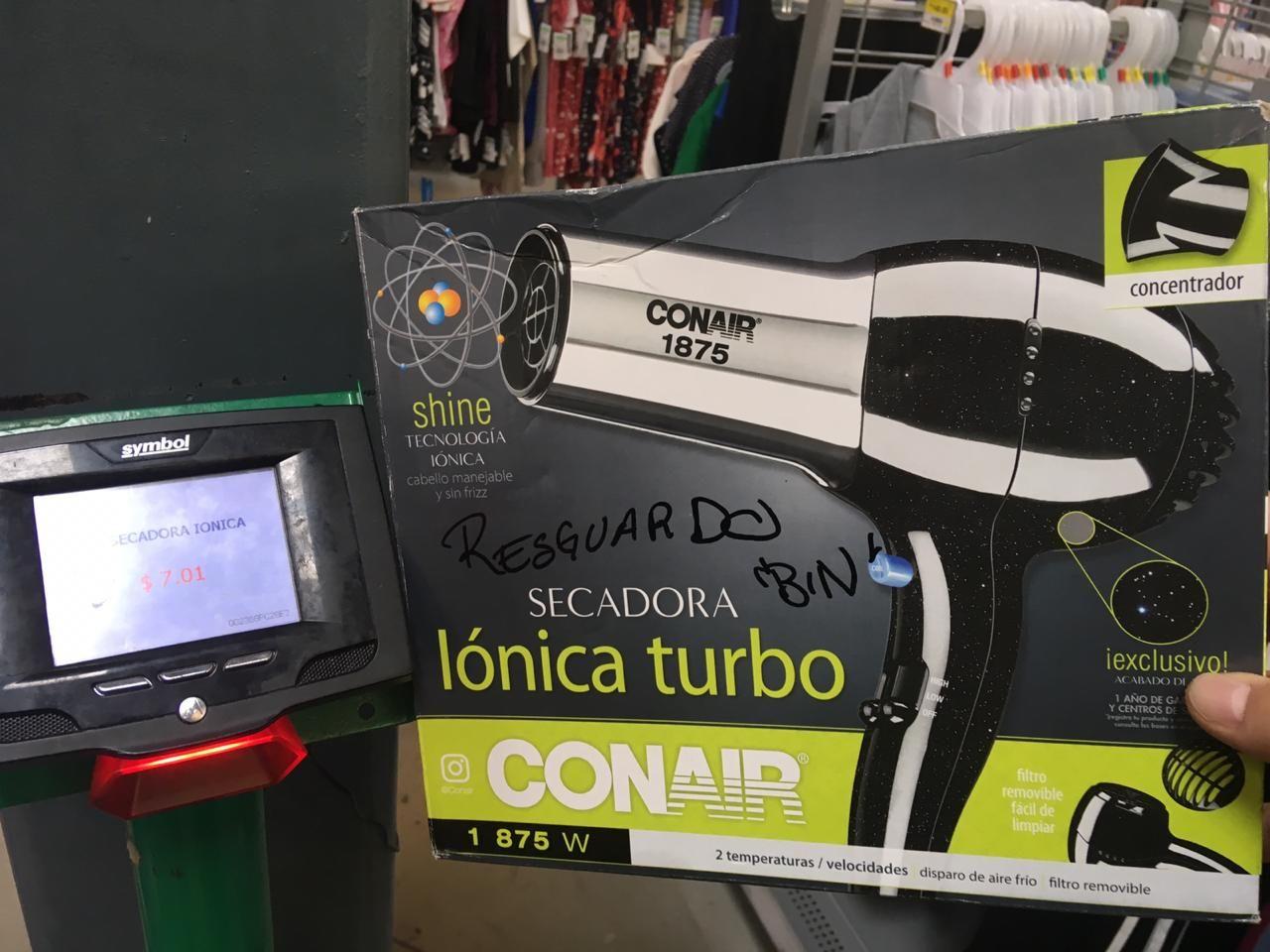 Bodega Aurrera: Secadora lónica turbo