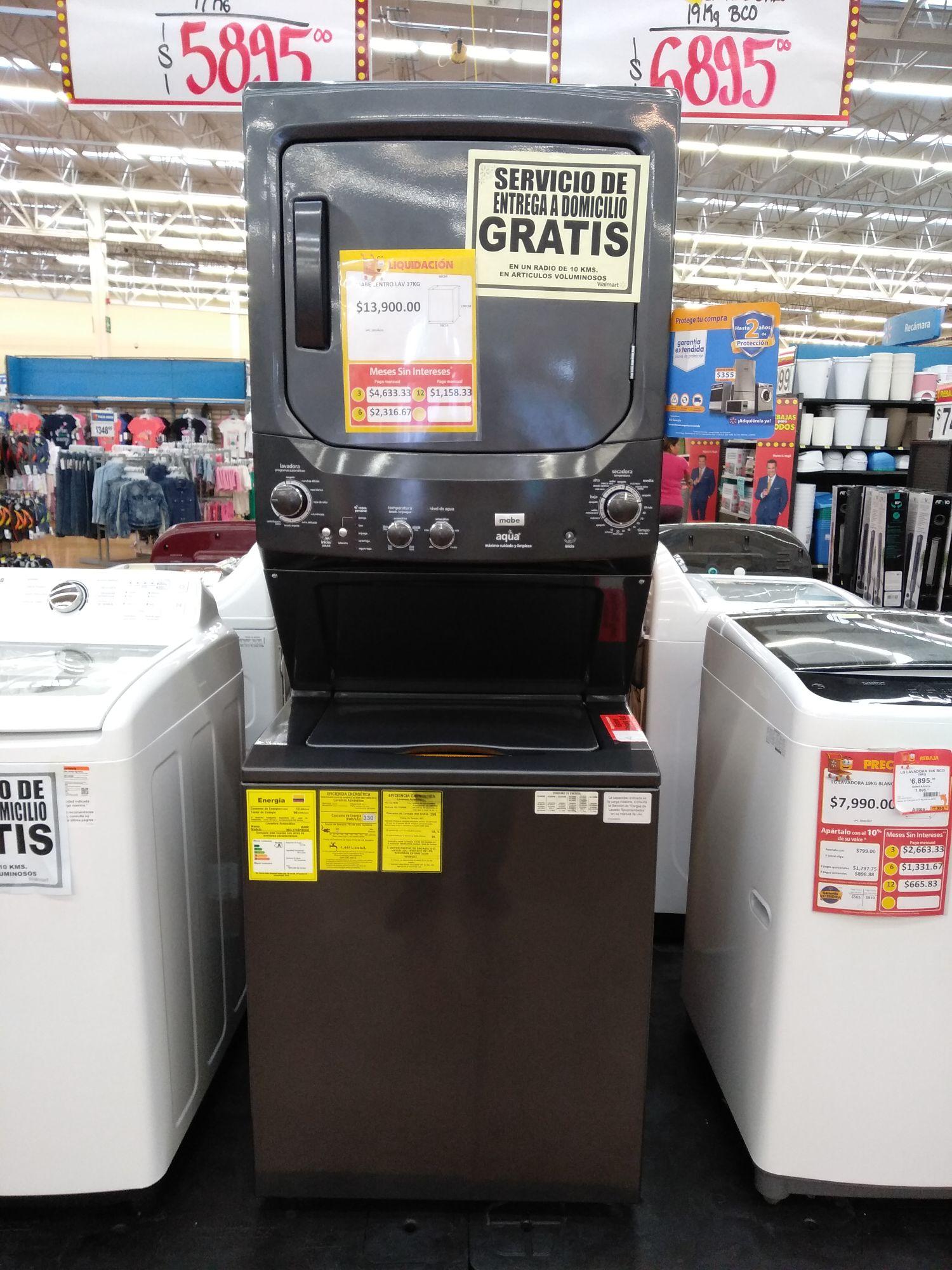 Walmart Chapultepec Monterrey: MABE Centro de lavado 17kg