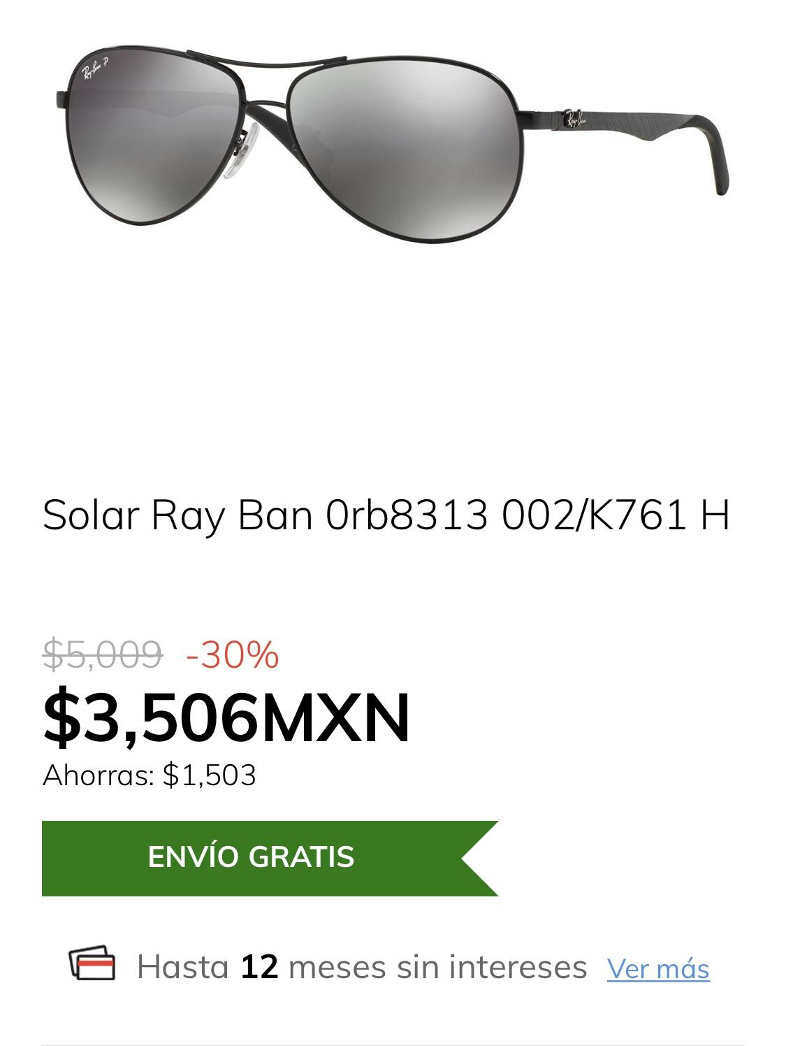 Claroshop: Solar Ray Ban 0rb8313 002/K761 H