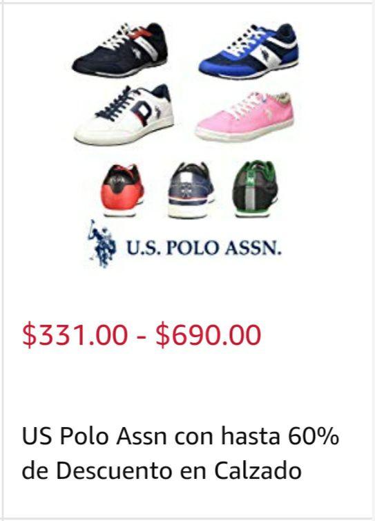 Amazon: Variedad de Tenis U.S. POLO ASSN. Desde 331 hasta 690 pesos.