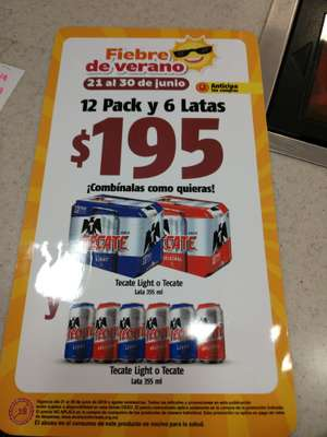 Oxxo: 12 pack + 6