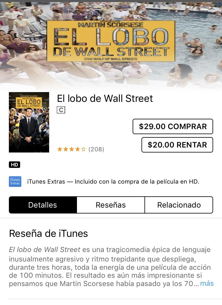 iTunes: Lobo de Wall Street