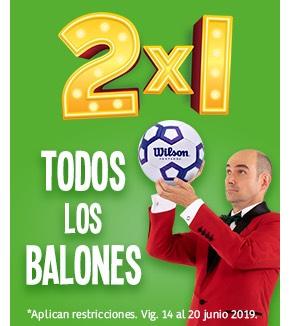 Soriana Balones al 2X1 hoy último día!!