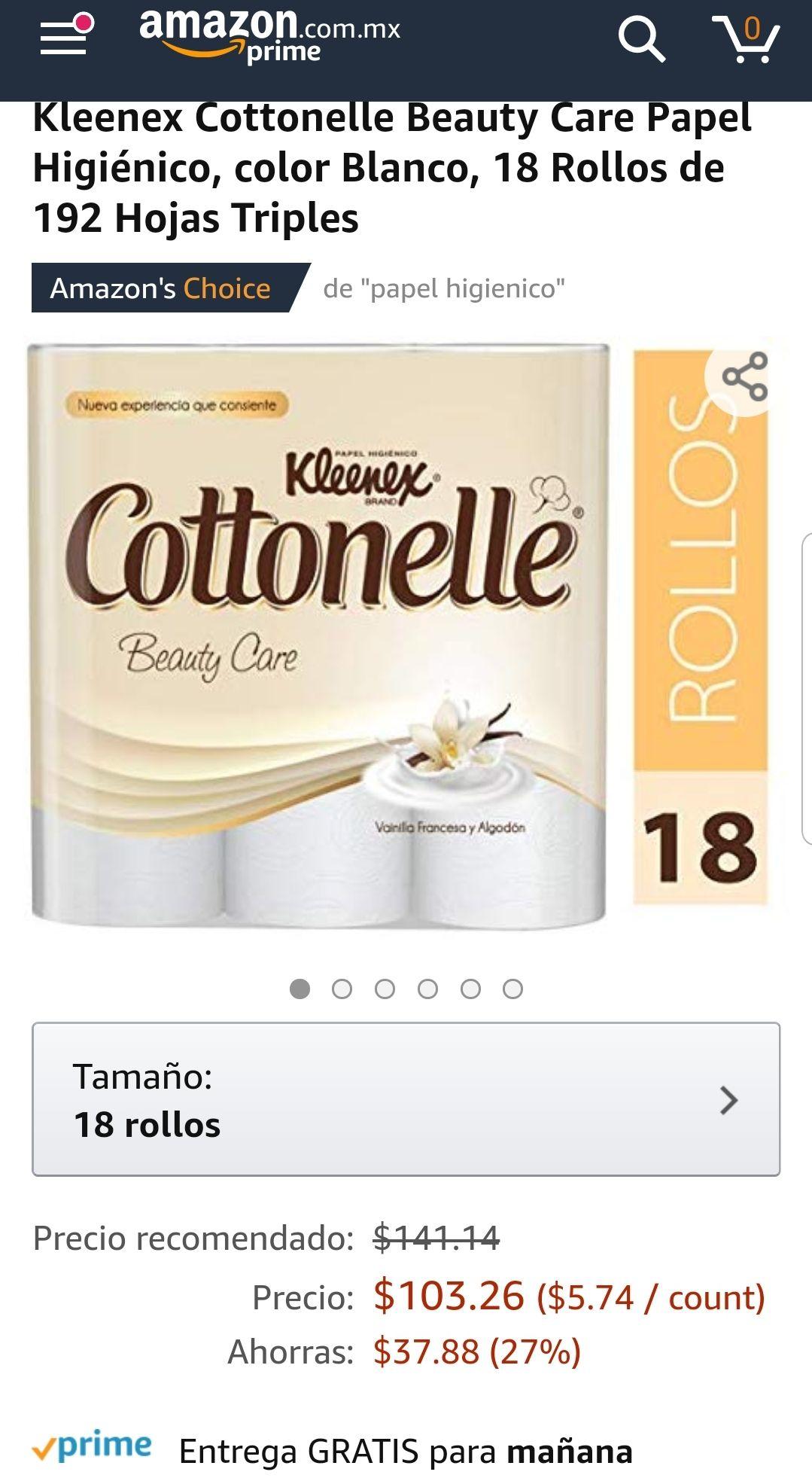 Amazon: Papel higienico kleenex cotton