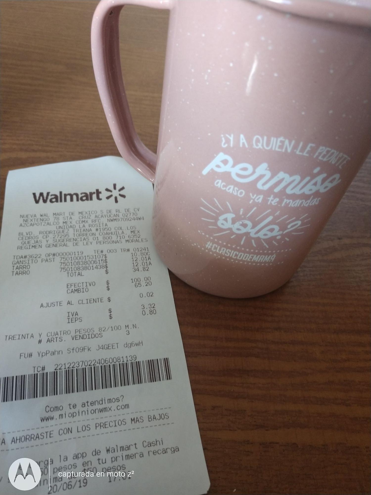 Walmart: Tarro de peltre Rosa Promonovela