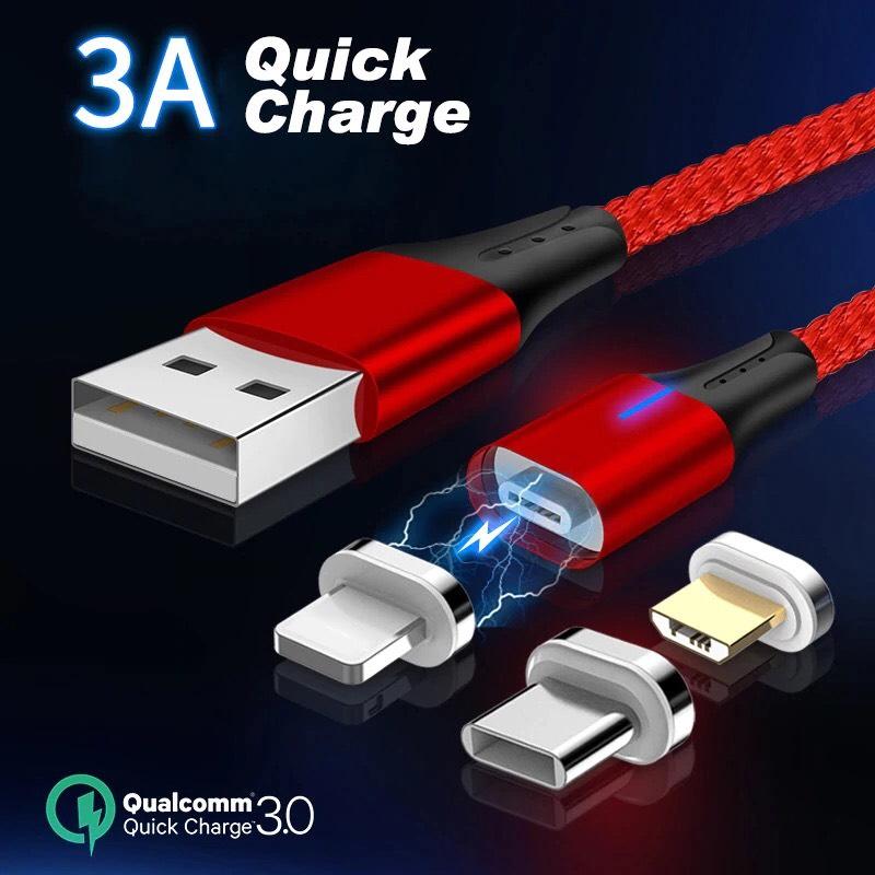 Aliexpress: Cable USB magnético para Iphone, Samsung, Huawei etc.