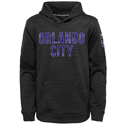 Amazon Sudadera para niño Adidas Talla L (7) Orlando City Color Negro Jaspeado