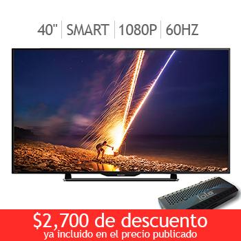 """Costco en linea: Sharp LED 40"""" Smart TV 1080p 60Hz y mas"""