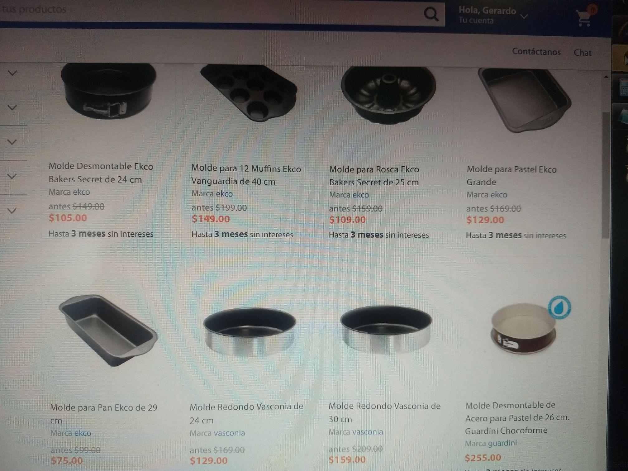 Walmart: Molde Desmontable Ekco Bakers Secret