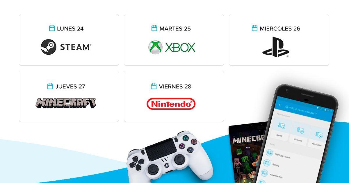 Mercado Pago : Recarga saldo digital para videojuegos desde la app y obtén $100 de regalo en tu marca preferida..
