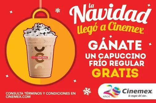 Regalo de navidad cinemex 23/12/15: cappuccino frío regular