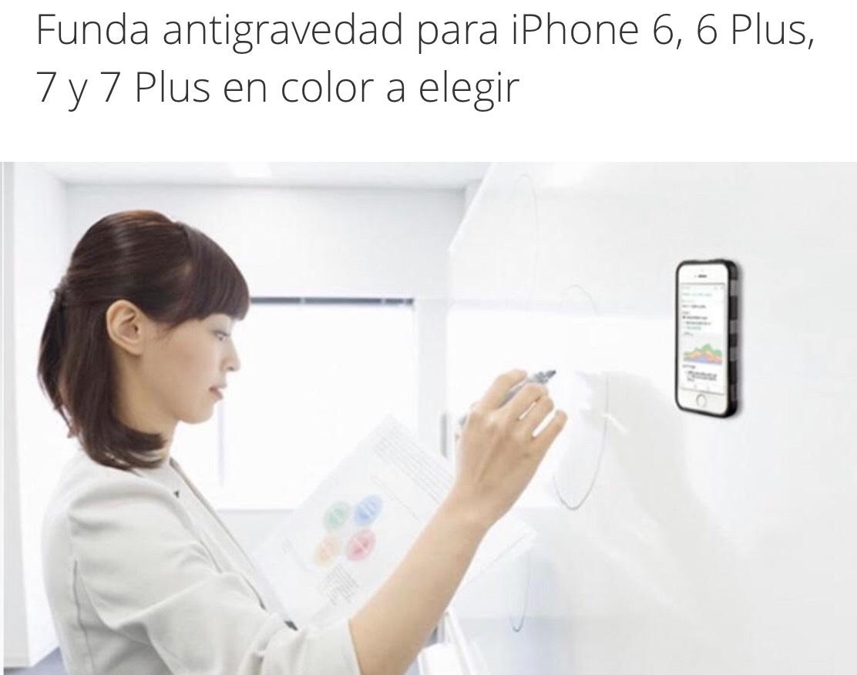Groupon: Funda antigravedad para iPhone 6, 6 Plus, 7 y 7 Plus