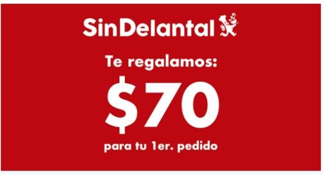SinDelantal: Cupón de $70 de descuento (solo para nuevos usuarios)