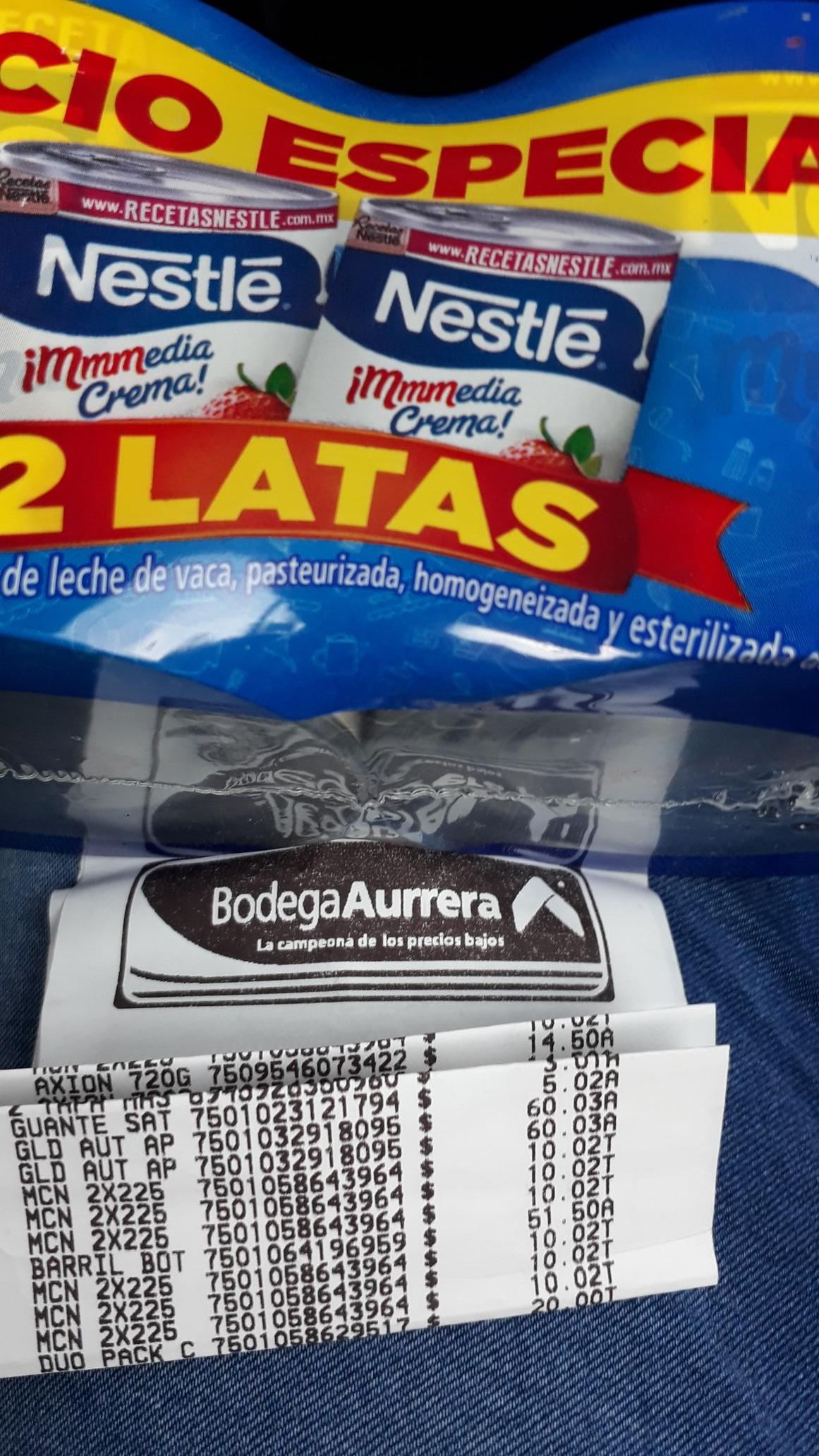 Bodega Aurrera: Paquete de dos medias cremas Nestlé