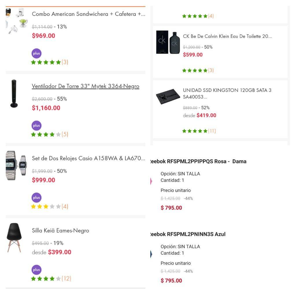 Linio App: Recopilación productos con descuento pagando con PayPal
