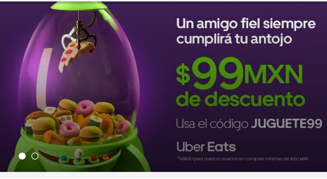 Uber eats descuento de 99 pesos (nuevos usuarios)
