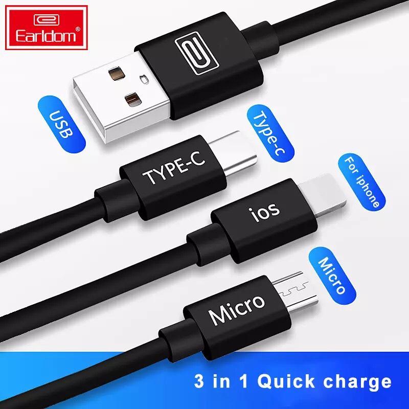 Aliexpress: Cable USB 3 en 1 Cable USB para Iphone, Samsung, Huawei, Xiaomi. Con descuento!