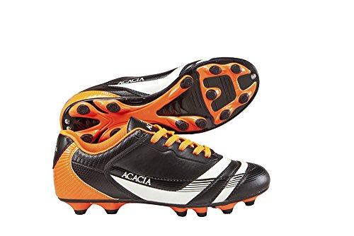 Amazon: Acacia ACACACIA Youth Thunder Zapatos de fútbol, Negro/Naranja, 11Y