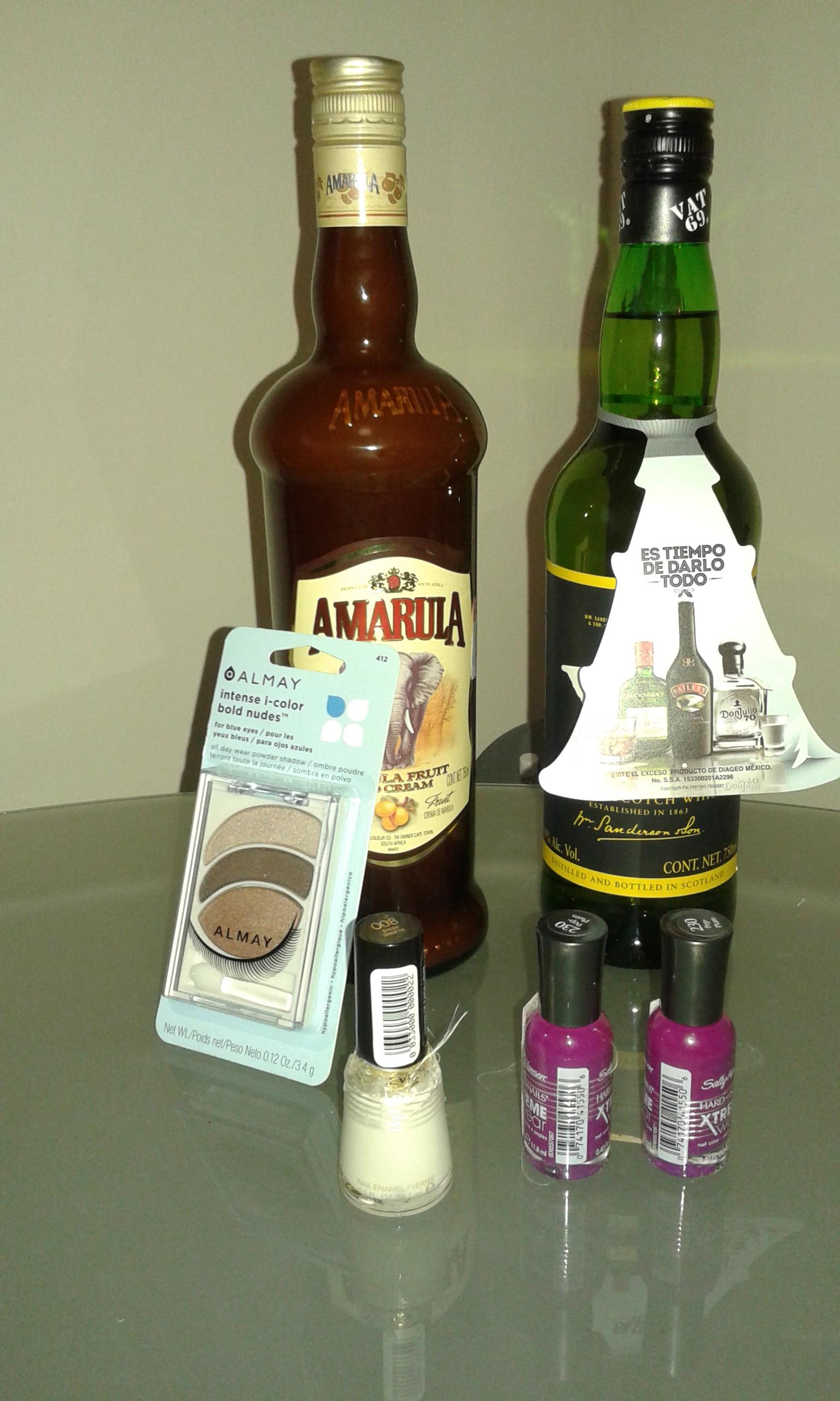 Walmart: Licor crema Amarula, Whisky  Vat 69, esmaltes Sally Hansen, L´oreall y sombras Almay