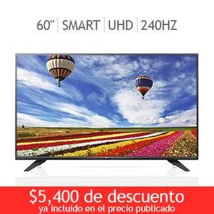Costco online: Pantalla LG LED 60″ Smart TV Ultra HD 240 Hz