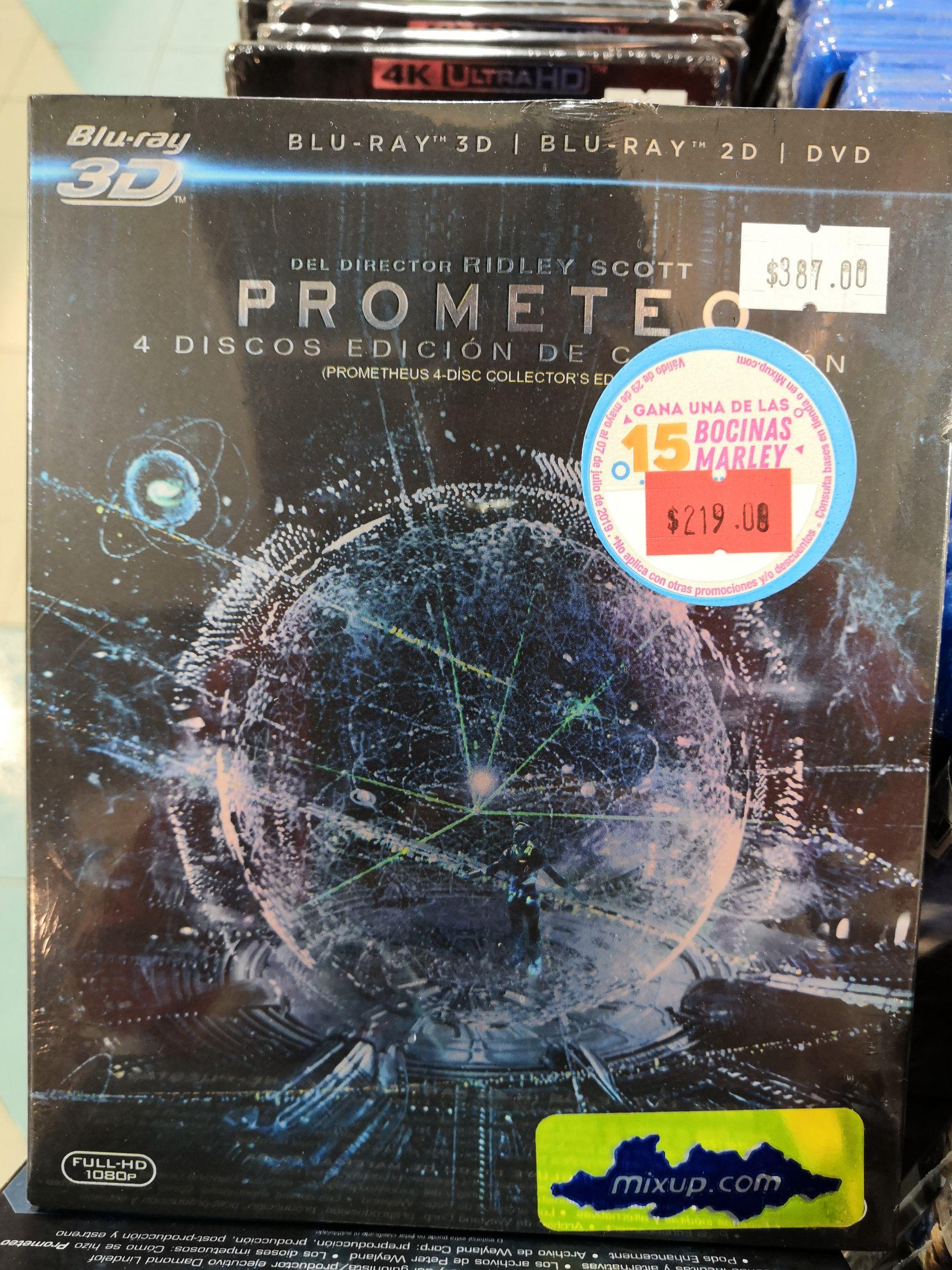 Mixup: Bluray Prometeo Edición Colección y Alien Covenant Steelbook Edition