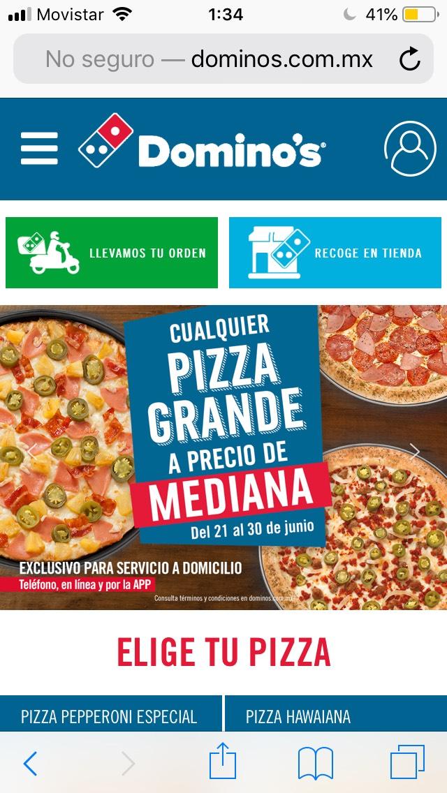 Domino's Week: Pizza grande a precio de mediana y más