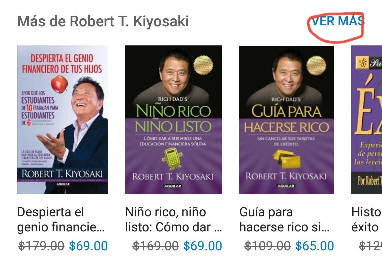 """Google Play Libros. Libros de la serie """"Padre rico. Padre pobre"""" en promoción."""