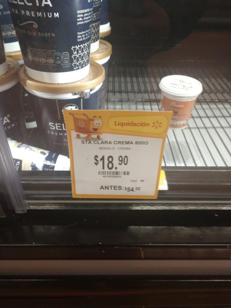 Walmart: Crema Santa Clara
