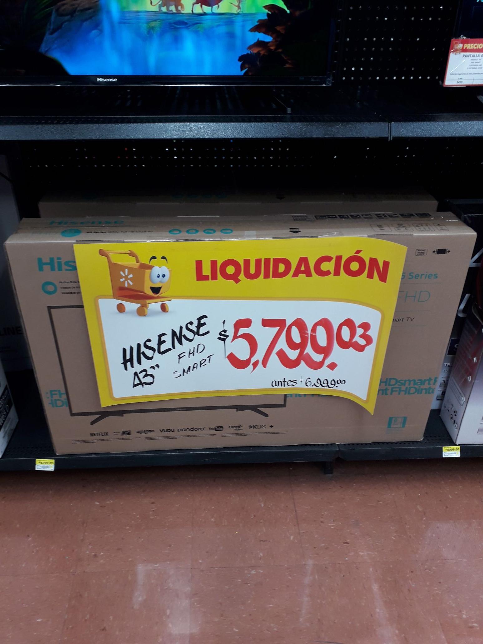 "Walmart: Pantalla Hisense 43"""