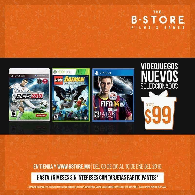 B-Store online y en tienda: Videojuegos nuevos desde $99