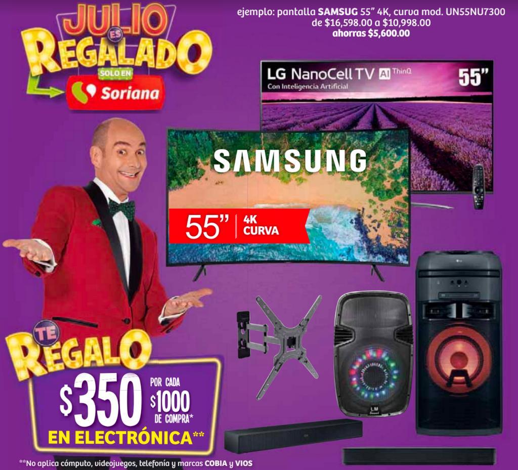 Soriana Patio Toluca: Barra de Sonido Bluetooth de 32″ (en la compra de audífonos Steren)