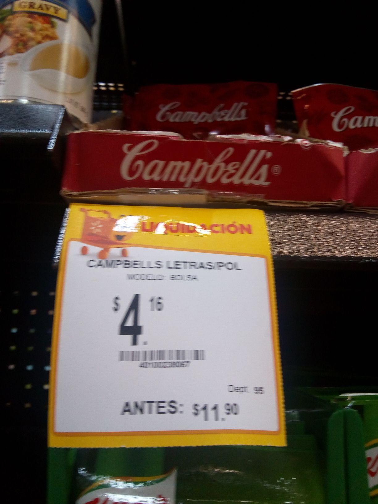 Walmart: Sopa de letras Campbell's