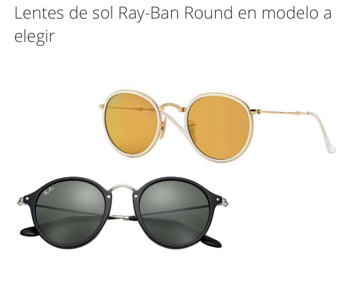 Groupon: Lentes de sol Ray-Ban Round