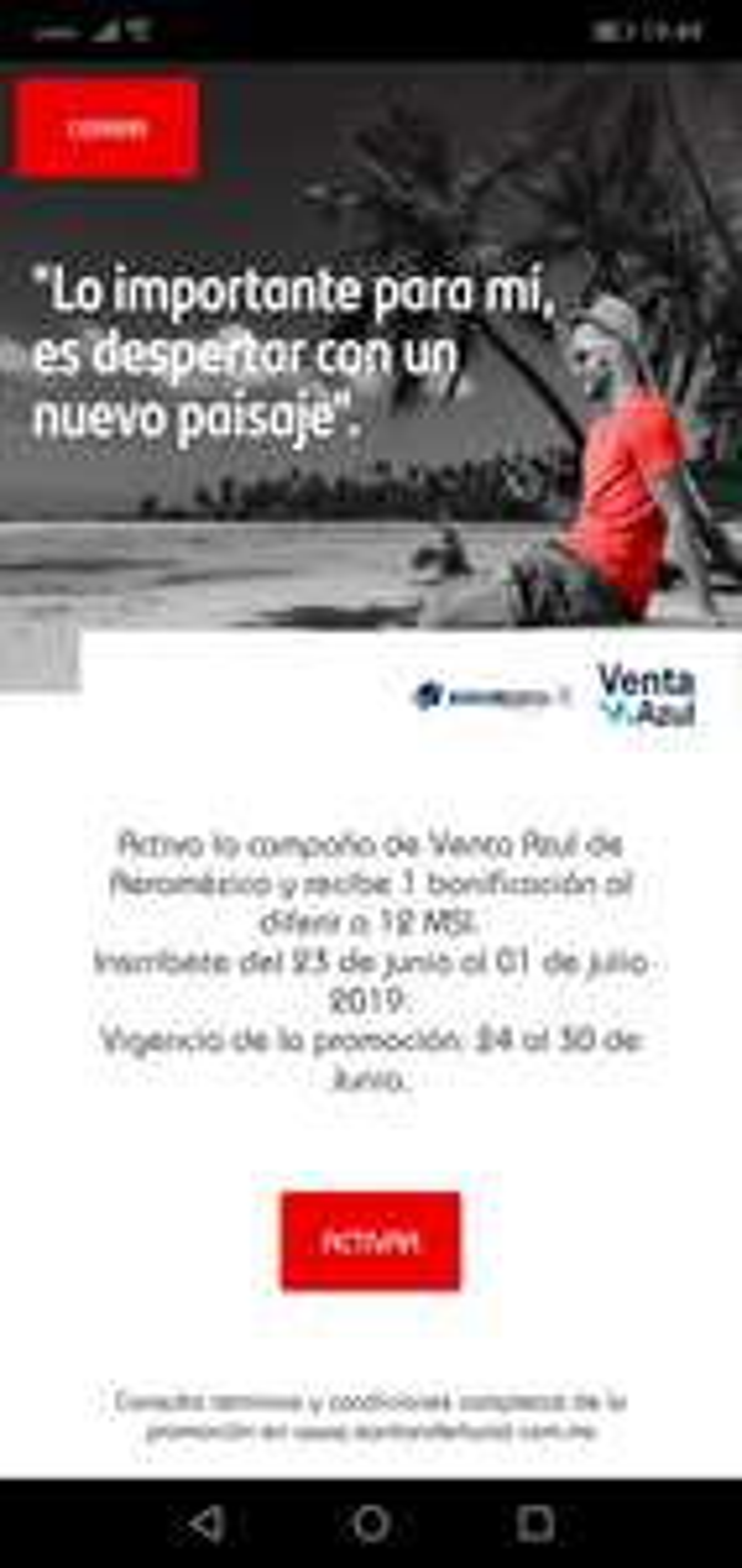 Aeroméxico: 1 mes de bonificación al diferir a 12 MSI con Santander