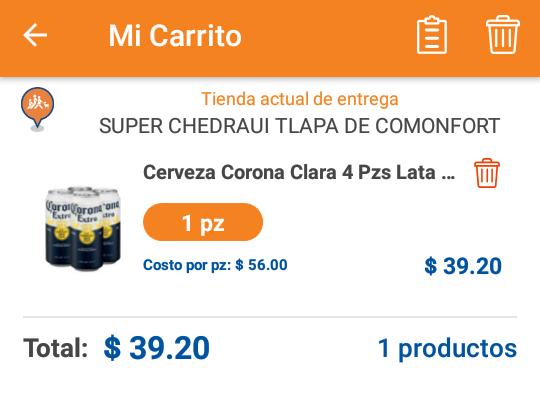 Chedraui: 30 % de descuento en productos Corona