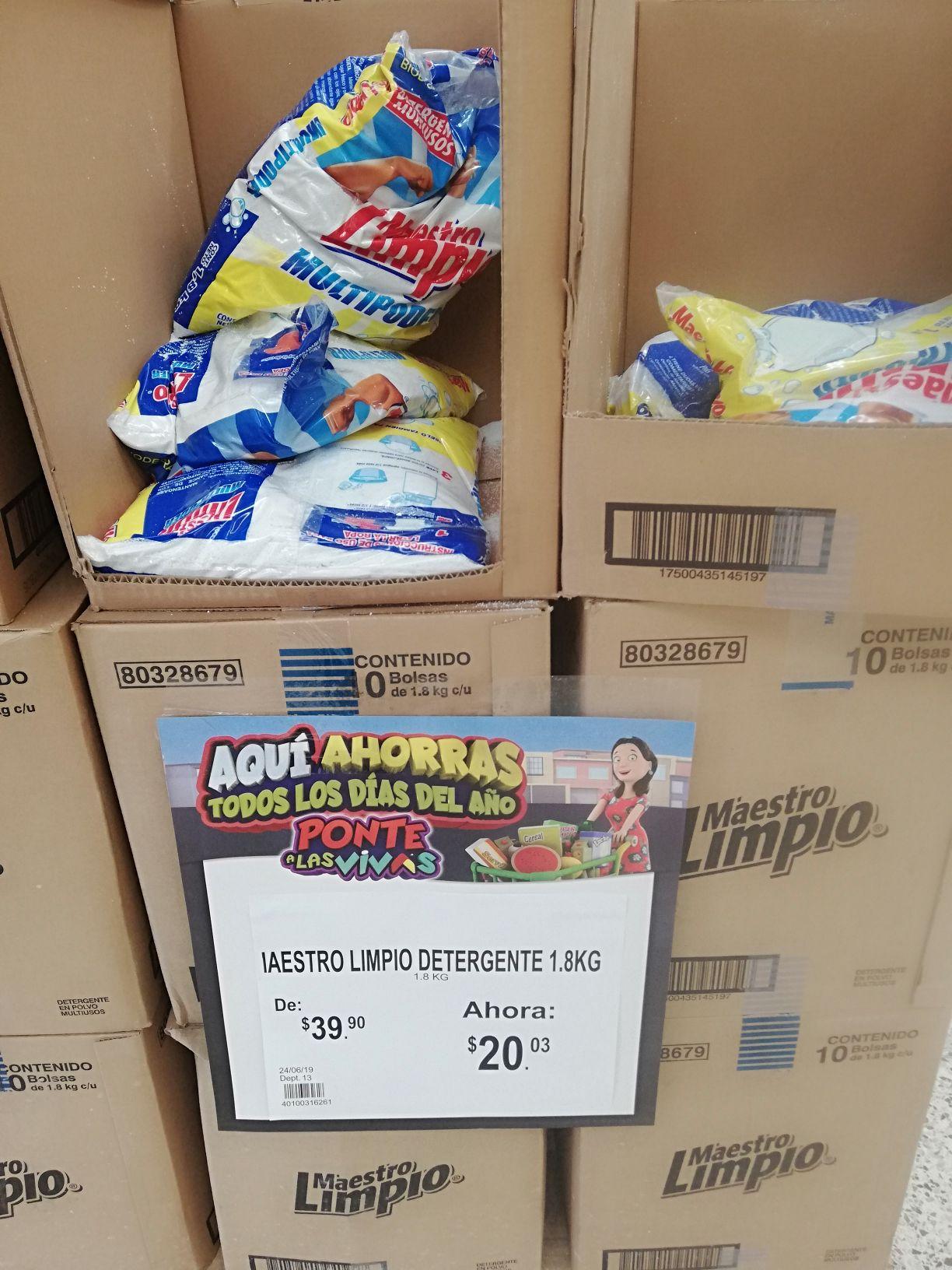 Bodega Aurrera: Detergente Maestro Limpio 1.8 kg y antitranspirante $10