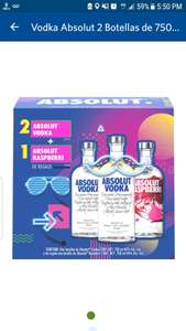 Sam's Club: Tres botellas de Absolut 750ml