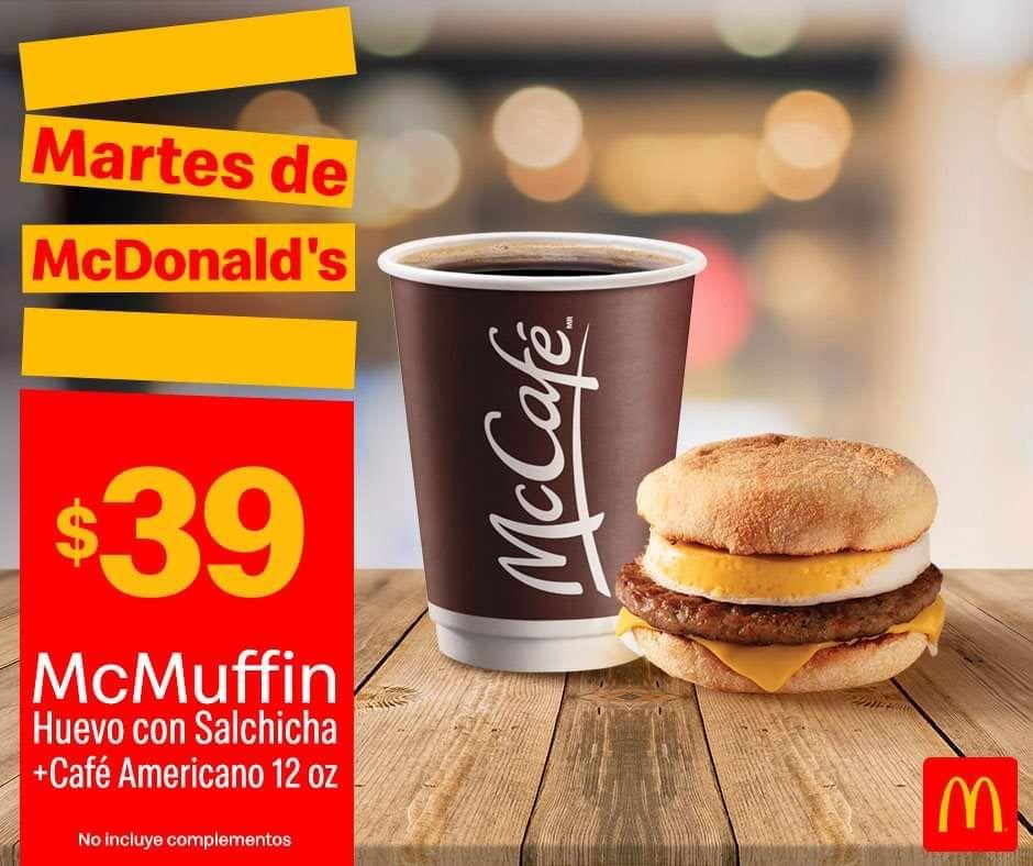 McDonald's : Muffin más café americano