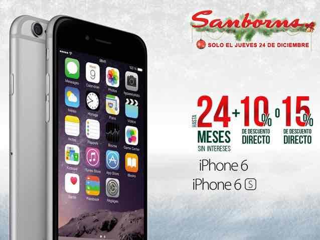 Sanborns: IPhone 6 y 6S con 15% de descuento