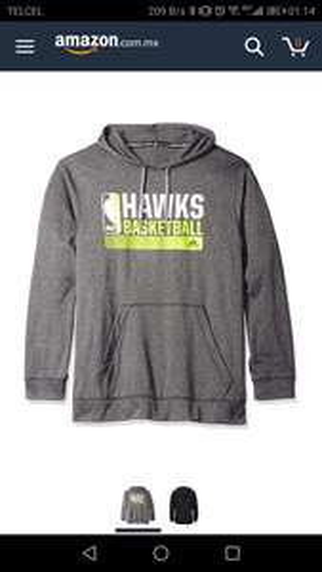 Amazon: Sudadera Adidas talla M / Hawks.