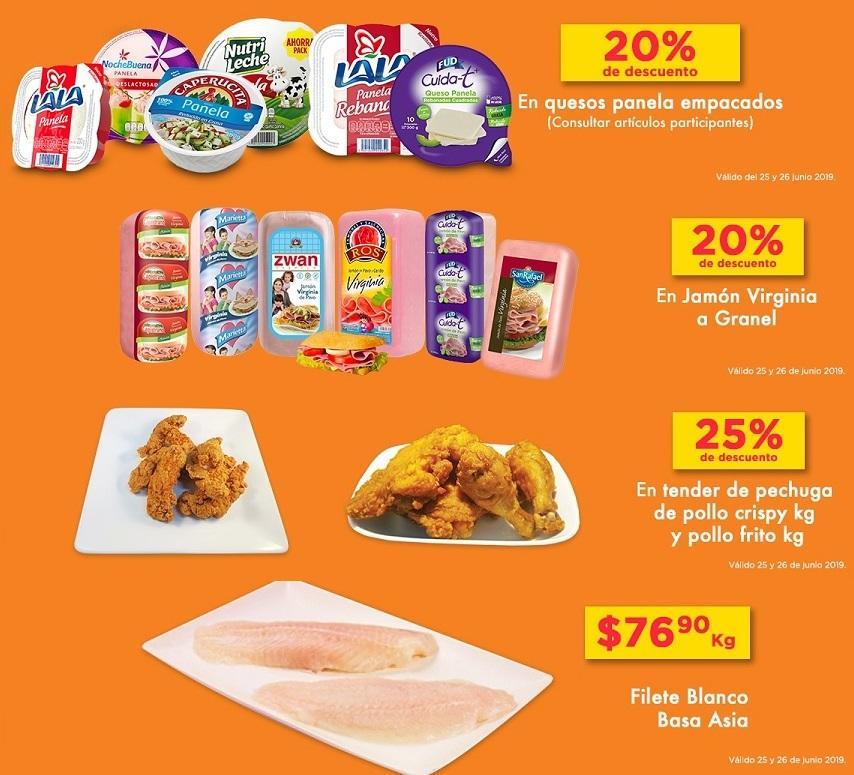 Chedraui: 20% de descuento en quesos panelas empacados... 20% de descuento en jamón virginia a granel