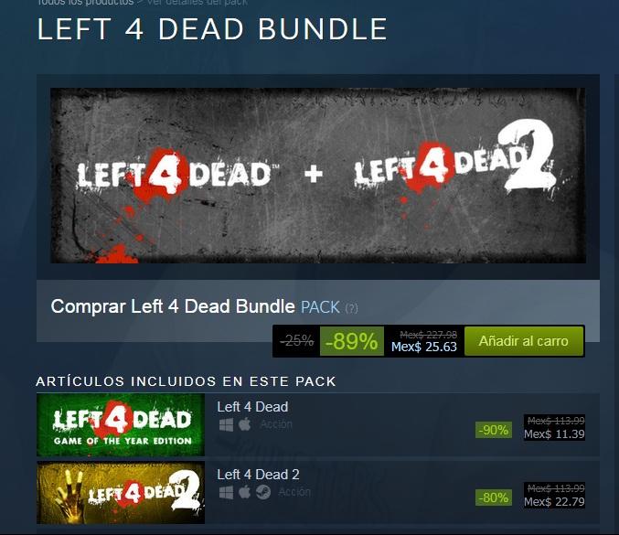 STEAM: LEFT 4 DEAD BUNDLE