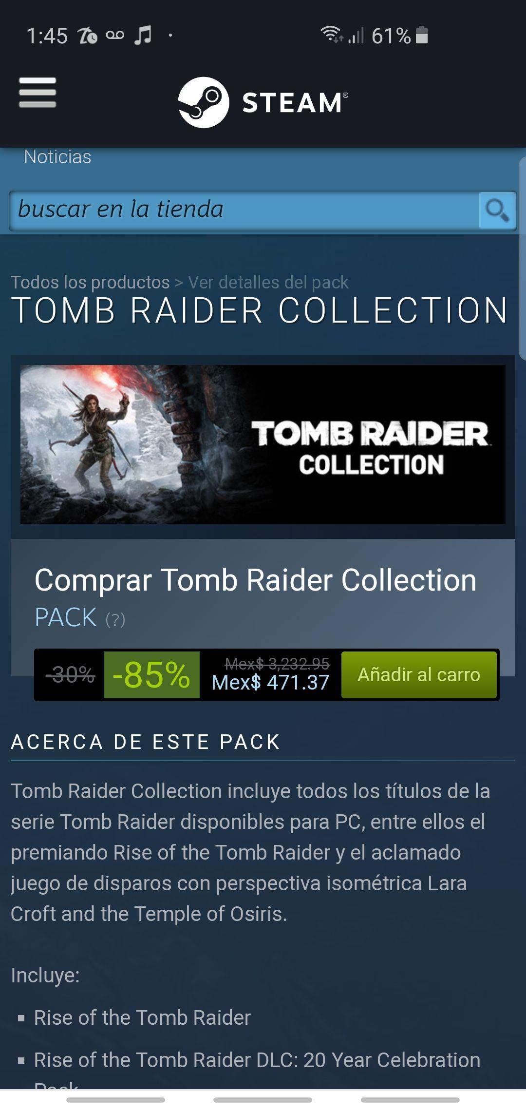 Steam TOMB RAIDER COLLECTION