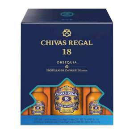 Sam's Club: CHIVAS 18 + 2 PACHITAS IGUAL DE 18