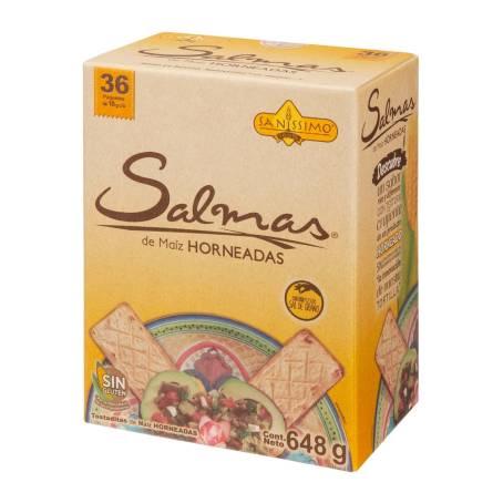 Sam's Club: Galleta de maíz horneada Salmas Sanissimo 36 Pzas