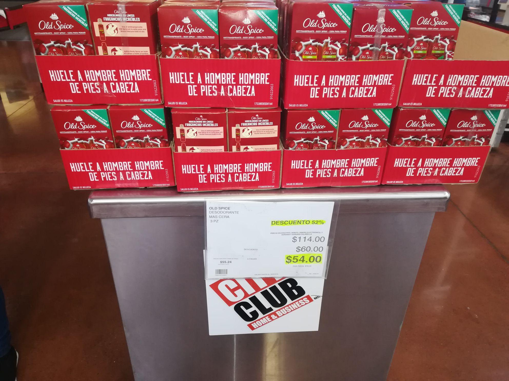 City Club: Paquete Desodorante Old Spice 3 pzas